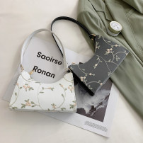 Bag The single shoulder bag PU baguette  Ruvanni brand new Japan and South Korea Small leisure time soft zipper no Plants and flowers Single root One shoulder hand nothing youth Horizontal square Lace Soft handle soft surface