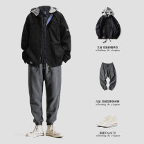 Casual pants Others Youth fashion K04 dark grey, jk06 black M,L,XL,2XL trousers Other leisure easy Micro bomb K04/jk06 winter youth Japanese Retro 2020 middle-waisted Little feet Tapered pants pocket No iron treatment Solid color cotton