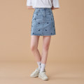 skirt Summer 2021 S,M,L blue Short skirt commute High waist Denim skirt other Type A 18-24 years old Y127469 More than 95% Denim Easy to build cotton Korean version