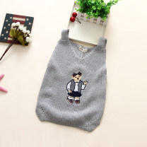 Vest female Off white, grey, pink 100cm,110cm,120cm,130cm,140cm Other / other spring and autumn routine No model Socket college cotton Cartoon animation Cotton 95% other 5%