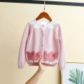 Sweater / sweater 90cm,100cm,110cm,120cm,130cm,140cm cotton female Other / other Korean version There are models in the real shooting Single breasted routine Crew neck nothing Ordinary wool Solid color Cotton 100%