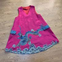 Vest sling Summer 2020 Picture color style, sold without return, old Satin cotton satin One size fits all, customizable singleton  Medium length easy Original design camisole Solid color 31% (inclusive) - 50% (inclusive) cotton Cloud decoration Totem Embroidery / embroidery