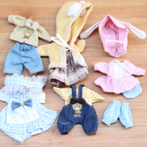 Doll / accessories 3, 4, 5, 6, 7, 8, 9, 10, 11, 12, 13, 14, 14 and above parts Other / other China Suitable for children under 17 cm currency clothes Fashion cloth other nothing clothes
