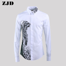 shirt Fashion City Others M (110-125 kg), l (125-140 kg), XL (140-155 kg), 2XL (155-165 kg), 3XL (165-180 kg), 4XL (180-195 kg) white routine square neck Long sleeves Self cultivation daily Four seasons youth Simplicity in Europe and America 2018 Animal design No iron treatment cotton printing