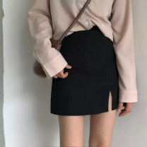 skirt Spring 2020 S [80-95 kg], m [95-105], l [105-115 Jin], XL [115-125 Jin], 2XL [125-140 Jin], 3XL [140-160 Jin], 4XL [160-180 Jin], 5XL [180-200 Jin] Short skirt commute High waist A-line skirt Solid color Type A 18-24 years old 51% (inclusive) - 70% (inclusive) polyester fiber zipper Retro