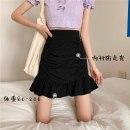 skirt Spring 2020 S [80-95 kg], m [95-105], l [105-115 Jin], XL [115-125 Jin], 2XL [125-140 Jin], 3XL [140-160 Jin], 4XL [160-180 Jin], 5XL [180-200 Jin] H. 016 white [lining], h.016 black [lining] Middle-skirt Versatile High waist Ruffle Skirt