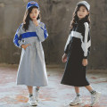 Dress female Other / other Cotton 95% polyurethane elastic fiber (spandex) 5% spring and autumn leisure time Long sleeves Solid color cotton A-line skirt Class B Four, five, six, seven, eight, nine, ten, eleven, twelve, thirteen, fourteen Chinese Mainland Guangdong Province