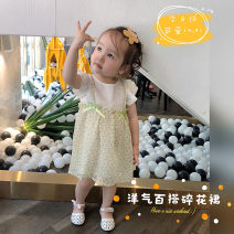Dress green female Other / other Cotton 80% other 20% summer Korean version Skirt / vest Broken flowers cotton A-line skirt Class A Six months, 18 months, 2 years, 3 years, 4 years, 5 years, 6 years Chinese Mainland Guangdong Province Guangzhou City