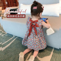 Dress Jujube red (in stock), jujube red (pre sold to warehouse on April 23) female Other / other Size 1 (73-80cm), size 2 (80-85cm), size 3 (85-95cm), size 4 (95-100cm), size 5 (100-110cm), size 6 (110-120cm) Cotton 80% other 20% summer Korean version Skirt / vest Broken flowers cotton A-line skirt