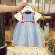 Dress Sky blue (in stock) female Other / other Cotton 80% other 20% summer Korean version Skirt / vest other cotton A-line skirt Class A 12 months, 6 months, 9 months, 18 months, 2 years old, 3 years old, 4 years old, 5 years old Chinese Mainland Guangdong Province Guangzhou City