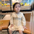 Dress Apricot female Other / other Size 1 (73-80cm), size 2 (80-85cm), size 3 (85-95cm), size 4 (95-100cm), size 5 (100-110cm), size 6 (110-120cm) Cotton 80% other 20% spring and autumn Korean version Long sleeves Solid color cotton A-line skirt Class A Chinese Mainland Guangdong Province