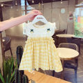 Dress Yellow (spot) female Other / other 80 (for 73-80cm), 90 (for 80-85cm), 100 (for 85-95cm), 110 (for 95-105cm), 120 (for 105-115cm) Cotton 80% other 20% summer Korean version Skirt / vest other cotton A-line skirt Class A Six months, 18 months, 2 years, 3 years, 4 years, 5 years Chinese Mainland