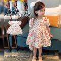 Dress Beibai (flower skirt) female Other / other Size 1 (73-80cm), size 2 (80-85cm), size 3 (85-95cm), size 4 (95-100cm), size 5 (100-110cm), size 6 (110-120cm) Cotton 80% other 20% summer Korean version Short sleeve flower cotton A-line skirt Class A Chinese Mainland Guangdong Province Shantou City