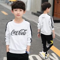 T-shirt Red, black, white, white (plush), black (plush), red (plush) Other / other 120, 130, 140, 150, 160 and 170 respectively male spring and autumn Long sleeves Crew neck motion There are models in the real shooting nothing cotton other CZ-1301 Class B other