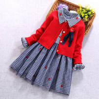 Dress female Other / other 100cm,110cm,120cm,130cm,140cm,150cm Cotton 92% others 8% spring and autumn princess Long sleeves Cartoon animation cotton Splicing style Class B 2 years old, 3 years old, 4 years old, 5 years old, 6 years old, 7 years old, 8 years old Chinese Mainland Guangdong Province