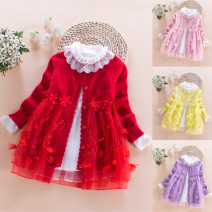 Sweater / sweater 110, 120, 130, 140, 150, 160 Pure cotton (100% cotton content) female Pink, red, purple, red (9010), purple (7061), blue (7061), red (7061) Other / other princess No model Single breasted routine Crew neck nothing Ordinary wool Solid color Cotton 95% other 5% 9TW622 Class B
