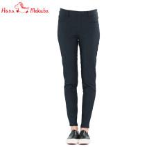 Casual pants S M L Winter 2017 trousers Pencil pants low-waisted Versatile Hana mokuba / flower Trojan horse