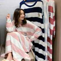 Nightdress Other / other Average size Sweet Long sleeves Leisure home longuette winter other youth Crew neck Polyester (polyester) Embroidery More than 95% other