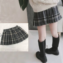 skirt 90cm,100cm,110cm,120cm,130cm,140cm,150cm,160cm Zalo Beni / zolembeni female Other 100% winter skirt college lattice Pleats Wool