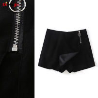Casual pants black S,M,L Spring of 2019 shorts Straight pants High waist Versatile routine H568 TRAF