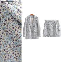 Fashion suit Spring 2020 S,M,L Blue suit, blue skirt, blue suit TRAF