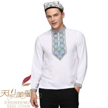 T-shirt other White, black thin M,L,XL,2XL,3XL,4XL,5XL Beautiful wings of Tianshan Mountain Long sleeves High collar easy daily Four seasons New polyester fiber 100% routine other