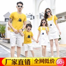 Parent child fashion A family of three Female, male, neutral Other / other summer leisure time routine other suit Pure cotton (100% cotton content) 50. M, s, XL, XXL, XXXL, XXL Class B S,M,L,XL,XXL Chinese Mainland