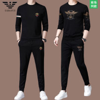 Leisure sports suit spring 165 / M (suitable for 90-120 kg), 170 / L (suitable for 120-135 kg), 175 / XL (suitable for 135-155 kg), 180 / XXL (suitable for 155-175 kg), 185 / XXXL (suitable for 175-190 kg), 190 / 4XL (suitable for 190-220 kg) Long sleeves Chiamania trousers youth T-shirt C008 2021