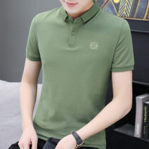 Polo shirt Other / other Fashion City routine Green, white, black M,L,XL,2XL,3XL,4XL Self cultivation Other leisure summer Short sleeve Youthful vigor routine youth Cotton 100% 2021 Solid color cotton No iron treatment