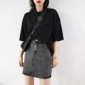 skirt Summer 2020 S, M Gray, blue Short skirt Versatile High waist Denim skirt Solid color Type A 120XQ11999 More than 95% Denim cotton