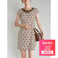 Dress Summer 2020 Red, green S,M,L,XL,2XL,3XL,4XL,5XL,6XL,F Short skirt singleton  Short sleeve Crew neck middle-waisted other zipper other routine Others 30-34 years old 9 Charms 9m