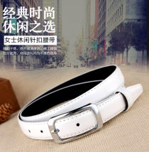 Belt / belt / chain Pu (artificial leather) 1218 white 1218 black 1218 red 1218 yellow 1218 gold 1218 coffee 1218 rose 1218 skin powder 1218 light purple 1218 dark blue 1218 camel 1218 Silver female belt Versatile Single loop Middle aged youth Pin buckle Glossy surface Patent leather 2.3cm alloy
