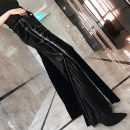 Casual pants black S,M,L,XL,2XL Spring of 2019 trousers Wide leg pants routine 2019ck0001 Chic / shell