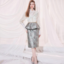Fashion suit Spring 2021 XS or XL or half size please customize remarks, s 20 working days, m 20 working days, l 20 working days jacket , skirt , a set Top a4d2052404, skirt a2k2106104 31% (inclusive) - 50% (inclusive)