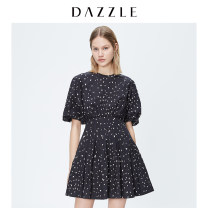 Dress Autumn 2020 Black (dress) XS S M Middle-skirt singleton  Short sleeve commute other other other A-line skirt puff sleeve 25-29 years old T-type Dazzle / geoelement Retro 2C3O4156A More than 95% other cotton Cotton 100% Same model in shopping mall (sold online and offline)