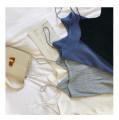Vest sling Spring of 2018 Sapphire blue, black, gray, khaki, white Average size singleton  Straight cylinder Versatile camisole Solid color
