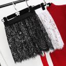 skirt Winter 2017 One size, big size White, black