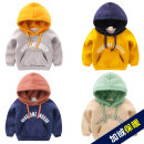 Sweater / sweater Generation by generation Grey hooded sweater with velvet, yellow hooded sweater with velvet, Navy hooded sweater with velvet, beige hooded sweater with velvet neutral 90cm,100cm,110cm,120cm,130cm winter No detachable cap Korean version Socket Plush No model cotton Solid color