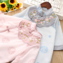 Dress female Other / other 90cm,100cm,110cm,120cm,130cm Other 100% spring and autumn ethnic style Long sleeves Broken flowers Chiffon A-line skirt 2 years old, 3 years old, 4 years old, 5 years old, 6 years old, 7 years old
