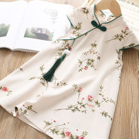 cheongsam 90,100,110,120,130,140,150,160 Other 100% There are models in the real shooting summer Broken flowers Cotton blended fabric 2 years old, 3 years old, 4 years old, 5 years old, 6 years old, 7 years old