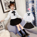 suit Other / other white 120cm,130cm,140cm,150cm,160cm,170cm female winter princess Long sleeve + skirt 2 pieces routine There are models in the real shooting Socket nothing Solid color other children Expression of love Class B Cotton 80% polyester 15% polyamide 5% Chinese Mainland Zhejiang Province
