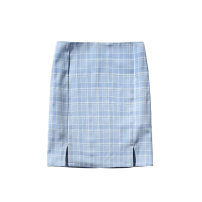 skirt Summer 2020 S,M,L Light blue, grass green Short skirt High waist skirt lattice 25-29 years old JG    BT002035