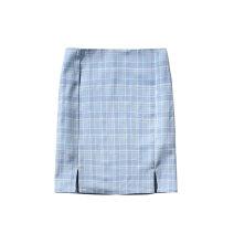 skirt Summer 2020 S,M,L Light blue, grass green Short skirt High waist skirt lattice 25-29 years old JG    BT002035