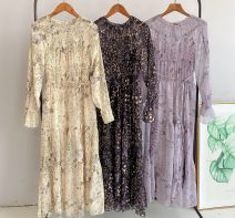 Dress Spring 2020 Yellow, black, light purple gray, buyers show upper body picture, cash back 10 yuan S (original fabric), m (original fabric) Mid length dress Two piece set Long sleeves Sweet Crew neck High waist Decor Socket pagoda sleeve 51% (inclusive) - 70% (inclusive) solar system