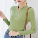 Wool knitwear Spring 2021 Average size Green, white, black, blue, yellow, khaki, apricot, pink, brick red Long sleeves singleton  Socket cotton More than 95% Regular routine commute Self cultivation High collar routine Solid color Socket Korean version ZZTX2107 Sderl / sundel Zipper, resin fixation
