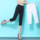 Casual pants Black, white S,M,L,XL,2XL,3XL,4XL Summer 2020 Cropped Trousers Straight pants High waist commute Thin money 96% and above XASDK-9981-36 pocket nylon