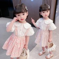 Fashion suit Summer 2021 80,90,100,110,120,130 Pink, lavender Other / other GGBB210056 71% (inclusive) - 80% (inclusive) cotton