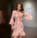 Dress Summer 2020 Pink S,M,L pagoda sleeve