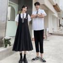student uniforms Summer 2021 Shirt (Unisex), women's long skirt, men's trousers, men's suit, women's suit S. M, l, XL, 2XL, 3XL, class custom large 4xl-5xl-6xl Short sleeve Korean version skirt 18-25 years old 91% (inclusive) - 95% (inclusive)