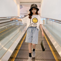 suit Other / other white 120cm,130cm,140cm,150cm,160cm,170cm female summer Korean version Short sleeve + pants 2 pieces Thin money There are models in the real shooting Socket nothing printing other children Expression of love A6111 Class B Other 100% Chinese Mainland Zhejiang Province Huzhou City